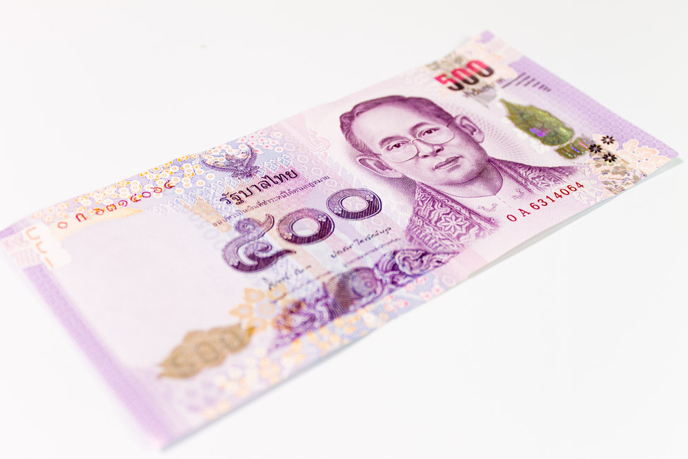 five-hundred-baht bill / note