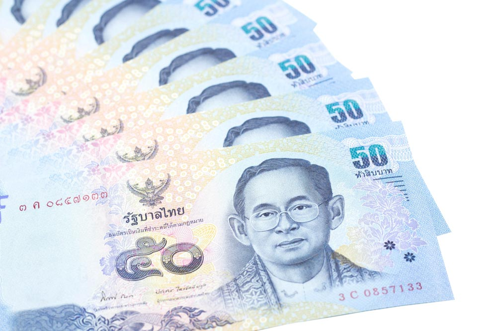 Fifty-baht Thai bank note