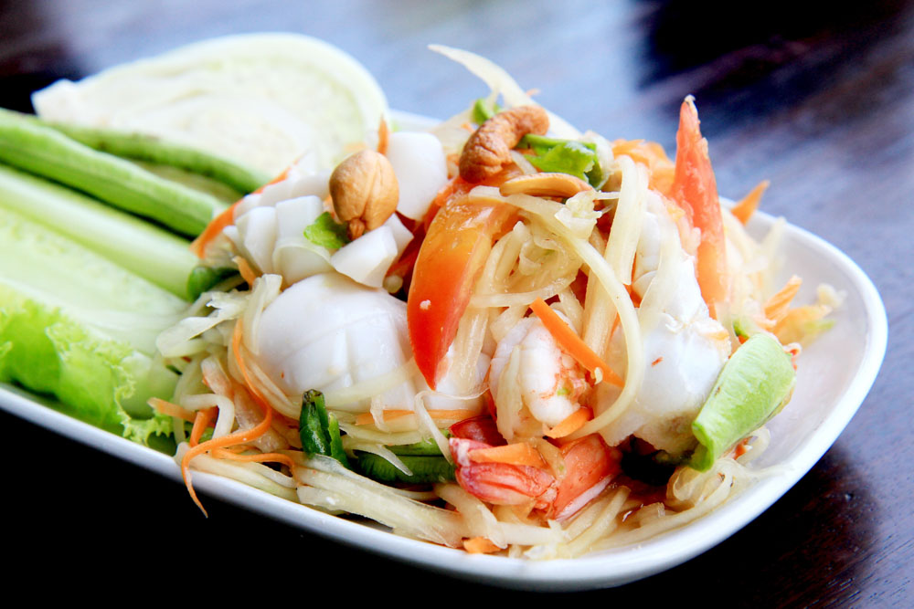 Som Tum or Spicy Green Papaya Salad